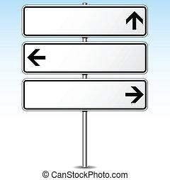 方向, roadsign, 矢量, 三