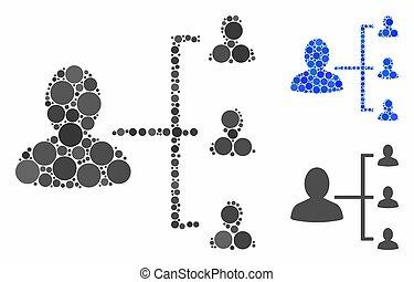 方案, 環繞, 用戶, 點, 馬賽克, 圖象