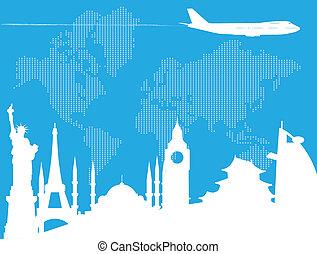 旅行, 世界, 大約