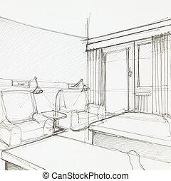 旅館, 細節, 房間