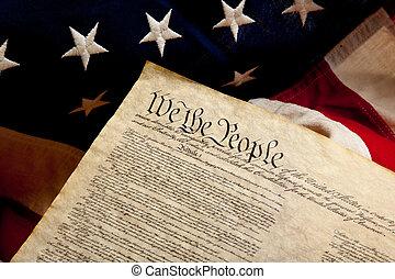 旗, 美國人, 獨立, 宣告