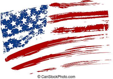 旗, grunge, 美國