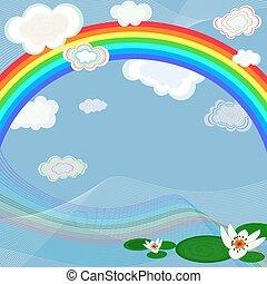 明亮, 背景, 彩虹