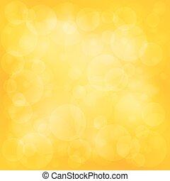 明亮, 黃色, 軟, bokeh, 背景