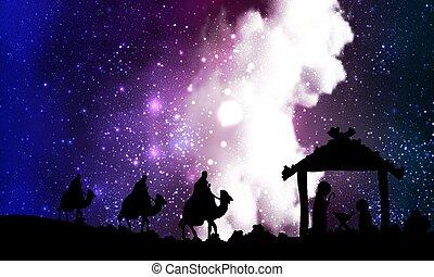 星云, 背景, 耶穌, 約瑟夫, mary