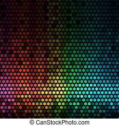 星, 光, 摘要, 迪斯科, 背景。, multicolor, 矢量, 象素, 馬賽克