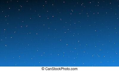 星, 夜晚, 很多, 天空