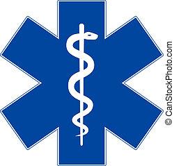 星, 緊急事件, 被隔离, 符號, 醫學, 白色, 生活