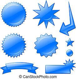 星, 藍色, 設計, 爆發