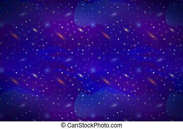星, 鮮艷, 空間, 簽, 背景, 深, galacticas, 卡通