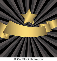 星, (vector), 金, 摘要, 灰色, 背景