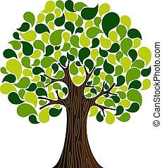 春天, 摘要, 樹, 時間