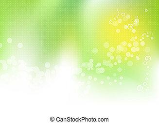 春天, 摘要, 綠色的背景