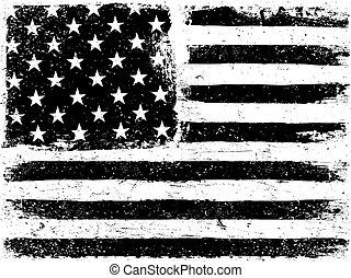 是, gamut., 層, white., 矢量, 罐頭, 美國人, 水平, removed., editable, orientation., 容易, 黑色, 旗, 老年, template., 背景。, 或者, 單色, grunge