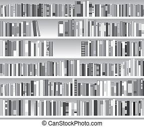 書架, 插圖, 現代, 矢量