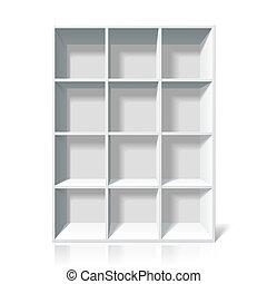 書架, 白色