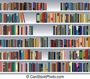 書架, 矢量, 現代