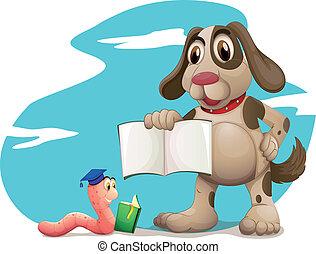 書, 動物, 閱讀