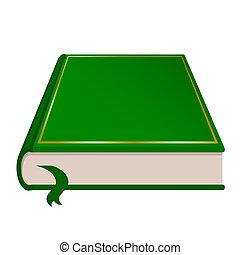 書, 矢量, 綠色