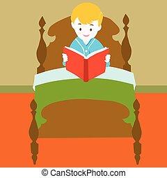 書, 矢量, -, 閱讀, 孩子