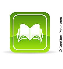 書, 綠色, 圖象