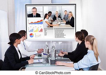 會議會議, 影像, businesspeople, 事務