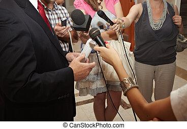會議, 事務, 新聞工作, 話筒, 會議