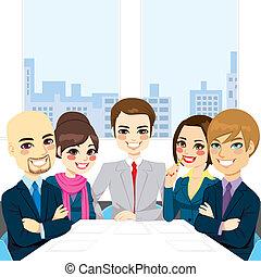 會議, businesspeople, 辦公室