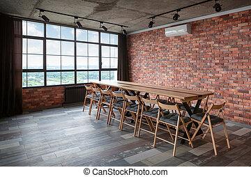 會議, room., 內部, 現代, 設計