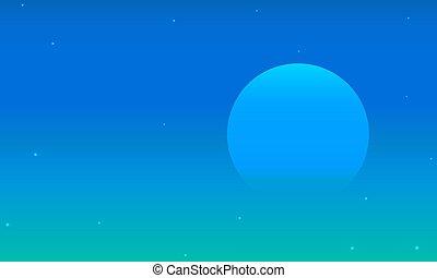 月亮, 半透明, 夜晚, 藍色的天空