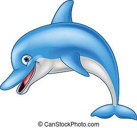 有趣, 海豚, 卡通