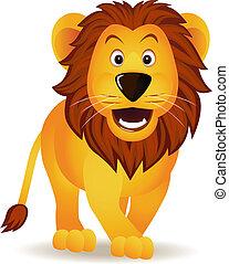 有趣, 獅子, 卡通