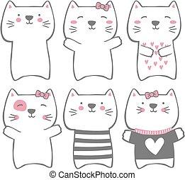 有趣, 現代, 貓, 漂亮