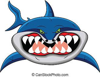 有趣, 鯊魚, 卡通