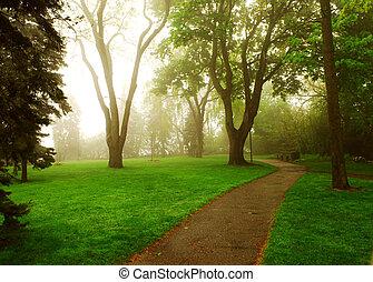 有霧, 公園