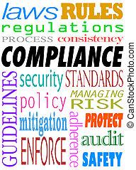 服從, 詞, policies, 方針, 標準, 背景, 法律
