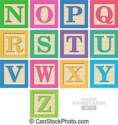 木制的字母表阻攔