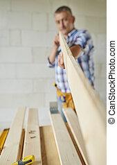 木制, 年長者, 木匠, 藏品, 板條