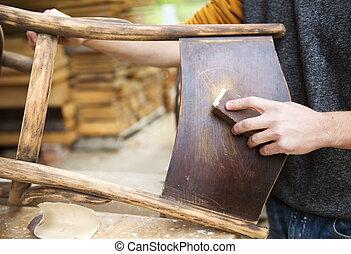木制, 恢復, 家具
