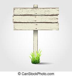 木制, 老, signboard
