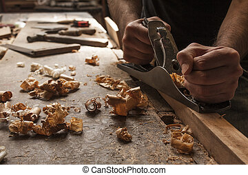 木匠, 工作, 飛機