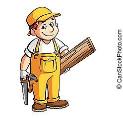 木匠, 插圖, 卡通