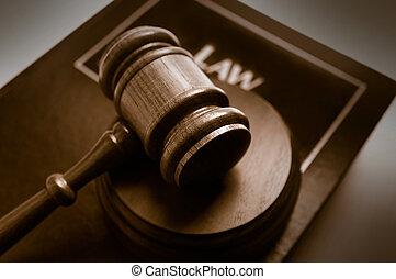 木槌, 頂部, 書, 庭院, 法律