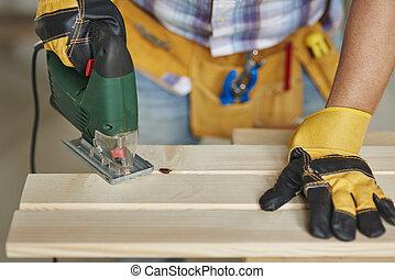 木製品, 木頭, 做, 木匠, 鋸