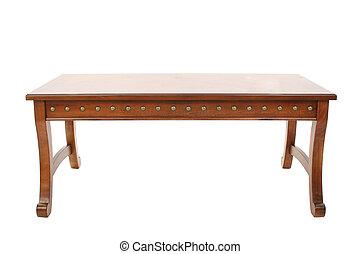 木製的桌子, 咖啡