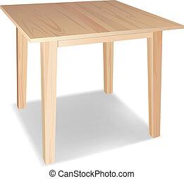 木製的桌子