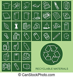材料, 圖象, 可再造