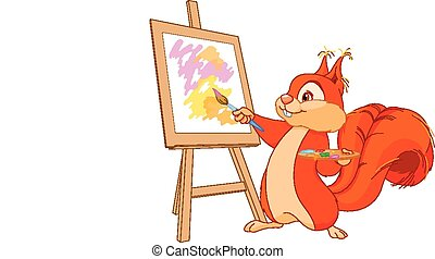 松鼠, 藝術家