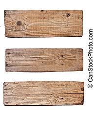 板, 背景, 木制, 被隔离, 老, 白色