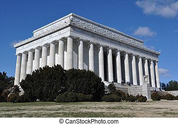 林肯, 華盛頓, 紀念館, dc
